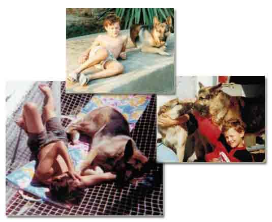 Petit, j'adorai déjà les chiens, surtout les Bergers Allemands